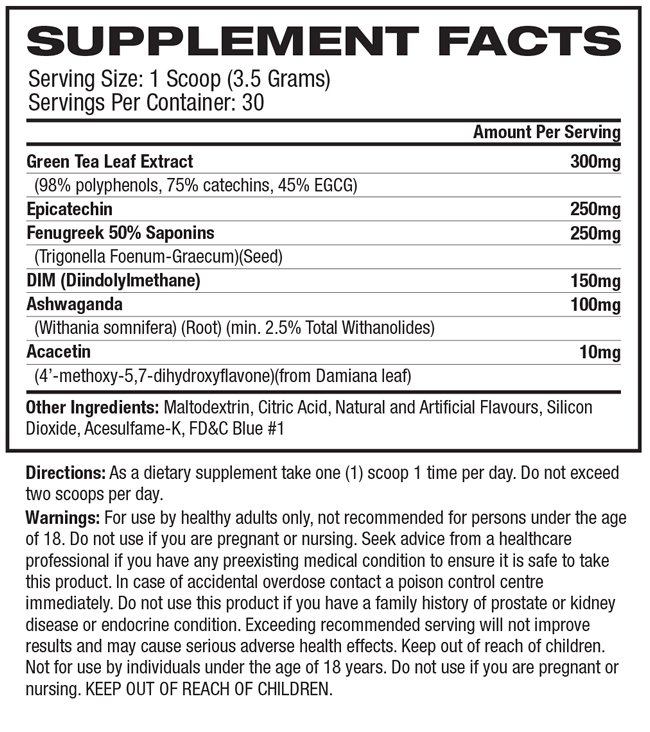 Nutrition Facts Cobra 6