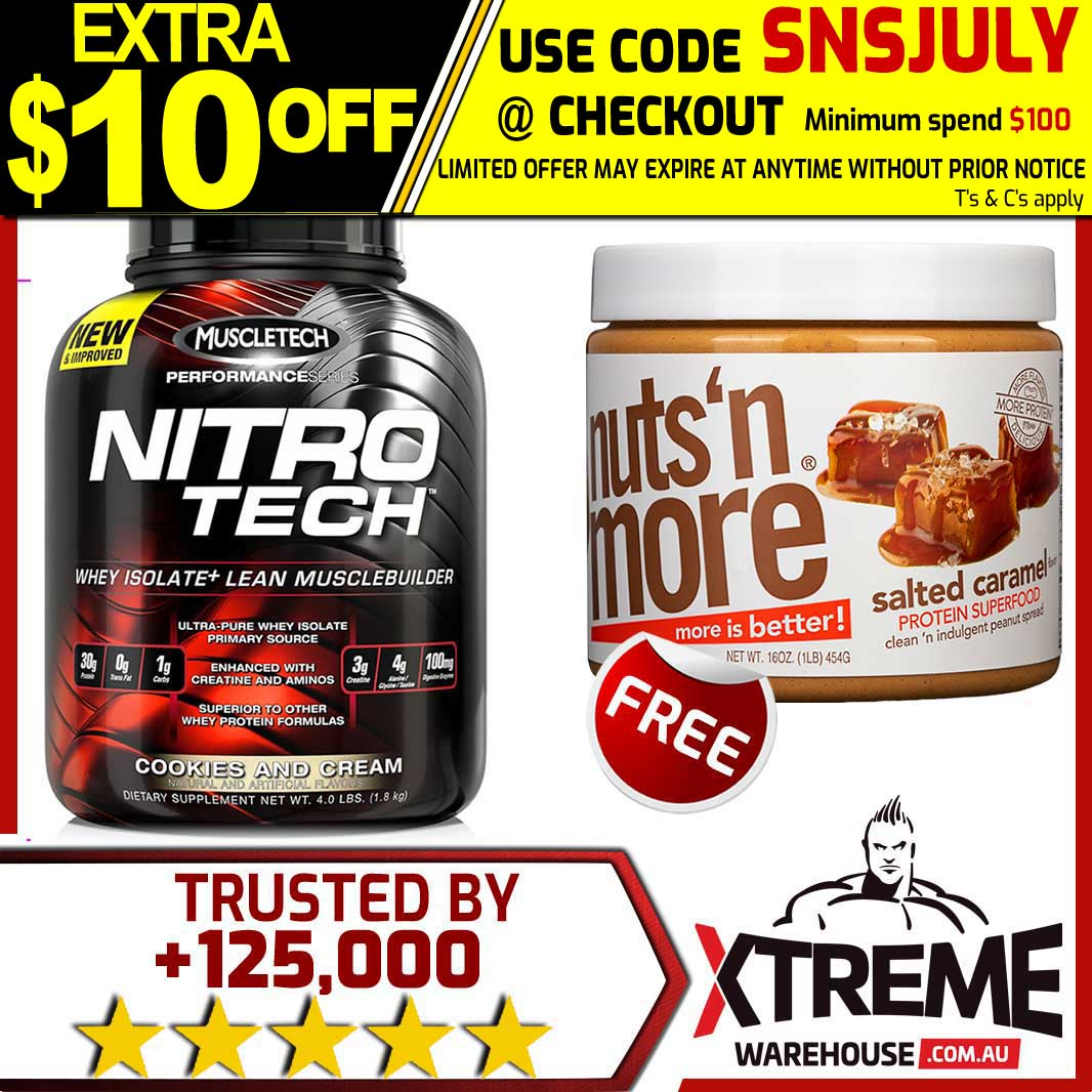 muscletech nitrotech 1 8kg strawberry nitro tech pro series whey protein isol. Black Bedroom Furniture Sets. Home Design Ideas