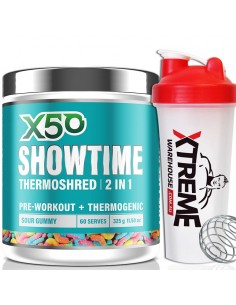X50 Showtime 2 In 1 Thermoshred & Pre Workout