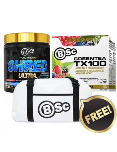 Body Science Hydroxyburn Shred Ultra 60Srv & Green Tea x50 60Srv
