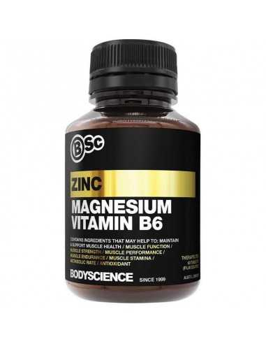 Zinc, Magnesium, Vit B6, Bioperine by Body Science BSc