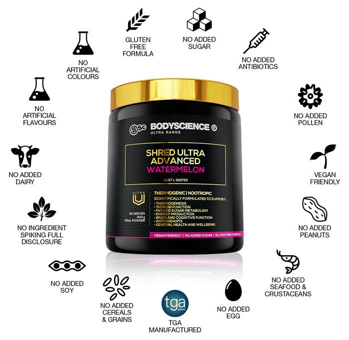 BSc Shred Ultra Advanced Supplement