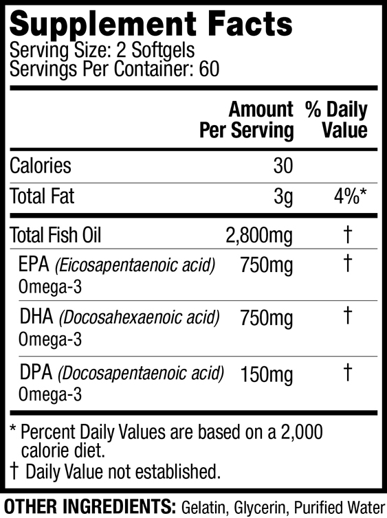 JYM Omega Nutrition facts
