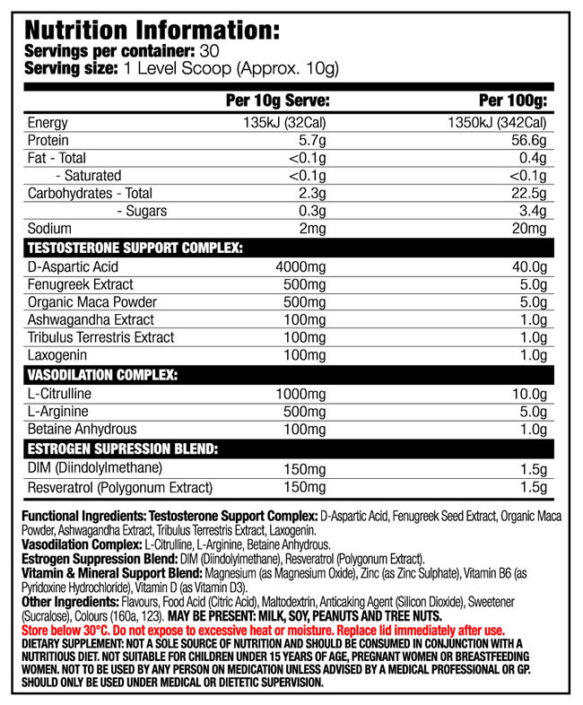 The Gear Juiced Nutrition Facts